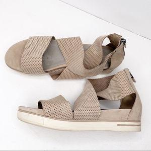Eileen Fisher Sport Platform Leather Sandals